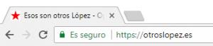 Esos son otros López funciona bajo HTTPS